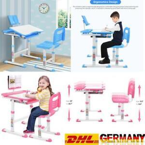 Kinderschreibtisch Schreibtisch Jugendschreibtisch Verstellbar Mit Stuhl DHL