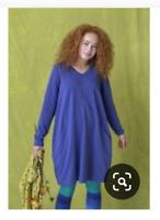88$ new GUDRUN SJODEN solid tunic sz M dress eco stretch organic cotton dress