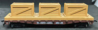 """Mantua HO scale """"Pennsylvania""""  flat car with load Rd. #451625, VINTAGE , BROWN"""