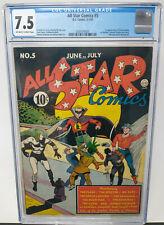 ALL STAR COMICS #5 ~ DC 1941 ~ CGC 7.5 VF- ~ 1ST APPEARNCE HAWKGIRL