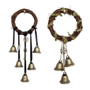 Witch Bells Magical Wind Chimes Banish Evil Crystal Quartz Hanging Pendant Decor
