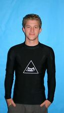 MENS BLACK LYCRA SHIRT USE FOR CYCLING  SURFING  SNORKELING DIVING SIZE 3X