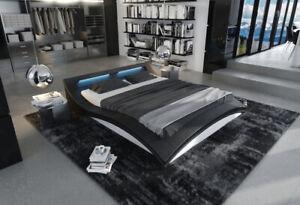 Upholstered Bed Designerbett Bedstead LED Lighting Luxusbett Double Bed Ermes