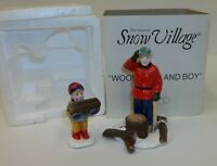 Dept 56 Christmas Snow Village Woodsman and Boy Accessory 5130-6 MIB