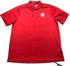 Adidas Indiana Hoosiers New Mens Red Short Sleeve Polo Shirt
