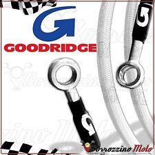 GOODRIDGE FLEXIBLES DE FREIN BLANC ACIER AVANT ARRIÈRE YAMAHA T-MAX 500 ie 2005