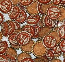 Soda pop bottle caps Lot of 25 NESBITTS CREME SODA cork lined new old stock