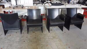 Matteo Grassi Sessel aus Sattelleder Korium in Schwarz