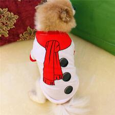 1X Bonhomme Neige Costume Noël Manteau Pull Gilet Vêtements Pour Chien Chat Doux