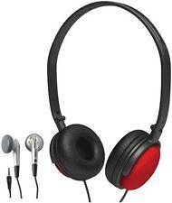 Coby Foldable Headset Headphones Earphones Kit - 2-In-1 Combo Pack