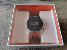 Fossil Men's Gen 4 Q Explorist HR Steel Touchscreen Smartwatch FTW4011
