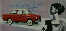 Daf 600 Variomatic Sales Brochure c 1960