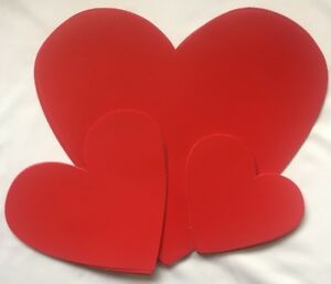 30 Valentines Day Red Hearts Cut Out Romantic Decorations Wedding Party
