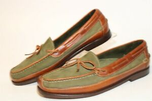 Cole Haan Mens Size 11 M Leather Hand Made Slip On Boat Shoes 13044