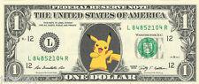 Pikachu (Pokemon) Dollar Bill {COLOR} - REAL, Spendable Money!