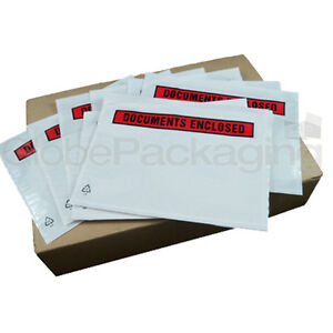 20 x A6 PRINTED Document Enclosed Address Wallets Slips