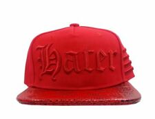 HATer Snapback Gothic Red Script HAT Cap Snakeskin