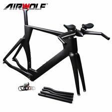 51/54/57cm Carbon Frame Time Trial Triathlon Bike TT Bicycle Frameset Handlebars