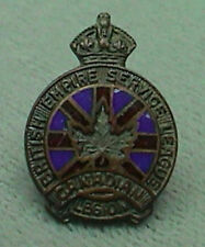 Vintage Canadian Legion British Empire Service League Pin J. R. Gaunt Lapel