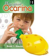 4-hole plastic school OCARINA SET, 6 colours, with Play your Ocarina Book 1