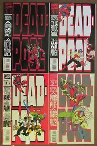 Deadpool: The Circle Chase #1-4 Marvel Comics 1993 Complete Set Madureira VF/NM