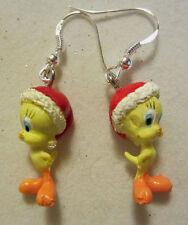NORA WINN ~TWEEDY BIRD ~ Earrings 925 Christmas LOONEY TUNES MOVIE CHARACTERS