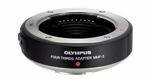 OLYMPUS MMF-3 Four Thirds Adapter Ship with tracking number PRE-OWNED