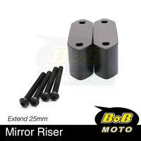 For Kawasaki Ninja 300R 13 14 15 16 17 CNC Side Mirrors Riser Extender Adaptor