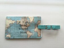 Tiempo para ir.. explorar descubrir sueño Vintage Map Etiqueta del equipaje