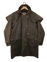 DRIZA-BONE Delux Short Trench Coat Men's (S4) CH 100 Small Oilskin Black Jacket