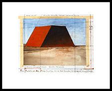 Christo mastaba of Abu Dhabi collage poster image Art pression & Alu-Cadre 40x50cm