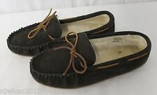 J CREW FACTORY SHEARLING MOCCASINS GREY SIZE 12 54058