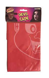 Red Devil Cape Halloween Kids Cute Boy's Girl's Fancy Dress Costume Scary