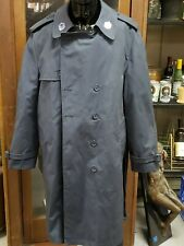 Military Mens 46R All Weather Coat Trenchcoat Navy Blue Double Breastedlined
