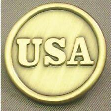 CIVIL WAR  U.S.A. Button Lapel Pin Uniform Button  Brass  1 inch 13003