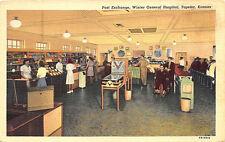 Topeka Ks General Hospital Pinball Machine Curt Teich Linen Postcard
