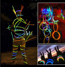 100PCS Glow Sticks Bracelets Necklaces Fluorescent Neon Party Wedding Magic Prop