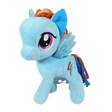 "Hasbro My Little Pony Rainbow Dash 2012 Plush 11"" String Ribbon Hair Soft Blue"