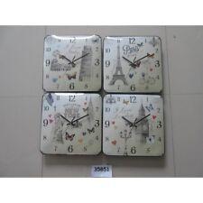 Orologio da parete quadrato città Cm. 28x28