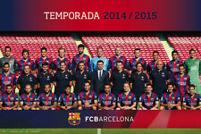 FC BARCELONA - SPORTS POSTER / PRINT (TEAM PHOTO - 2014 / 2015)
