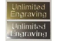 Gold/Silver Metal Plates with FREE Engraving