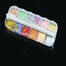 Glitter Heart Star Hollow Spangles Decoration for Nail Art Tips 12 Mix Colors