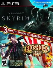 The Elder Scrolls V: Skyrim/BioShock Infinite (Sony PlayStation 3, 2014) PS3 NEW