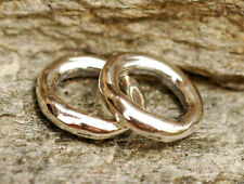 One Sterling Silver Smooth 11mm Ring Link 123s