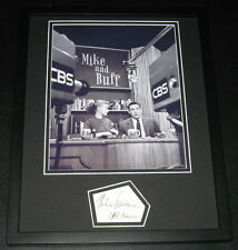 Mike Wallace Signed Framed 11x14 Photo Display CBS Mike & Buff 60 Minutes