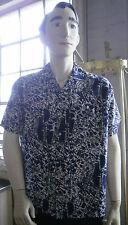 Permaflott Herren Hemden DDR Shirt TRUE VINTAGE GDR blau weiß 39-40 rockabilly