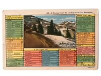 Message from the Land of Snow Clad Mountains, Correspondence Card Postcard 1948
