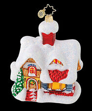 Christopher Radko - Cozy Cottage - Snow Covered House - Retired Ornament 1015121