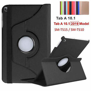 """360 Rotating Leather Case Cover For Samsung Galaxy Tab A10.1"""" T510 T515 2019"""