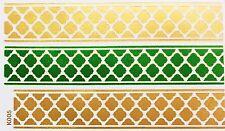 Tatouage doré vert une fois collée Flash Temporaire 3 pièces bracelet collier